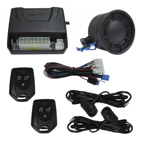 Alarme Automotivo Universal Fk902 Plus C/ Sirene 2 Controles