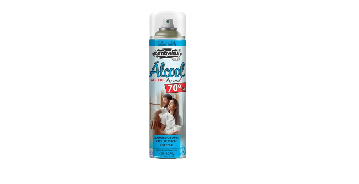Alcool Spray Aerossol Centralsul 400ml Perfumado