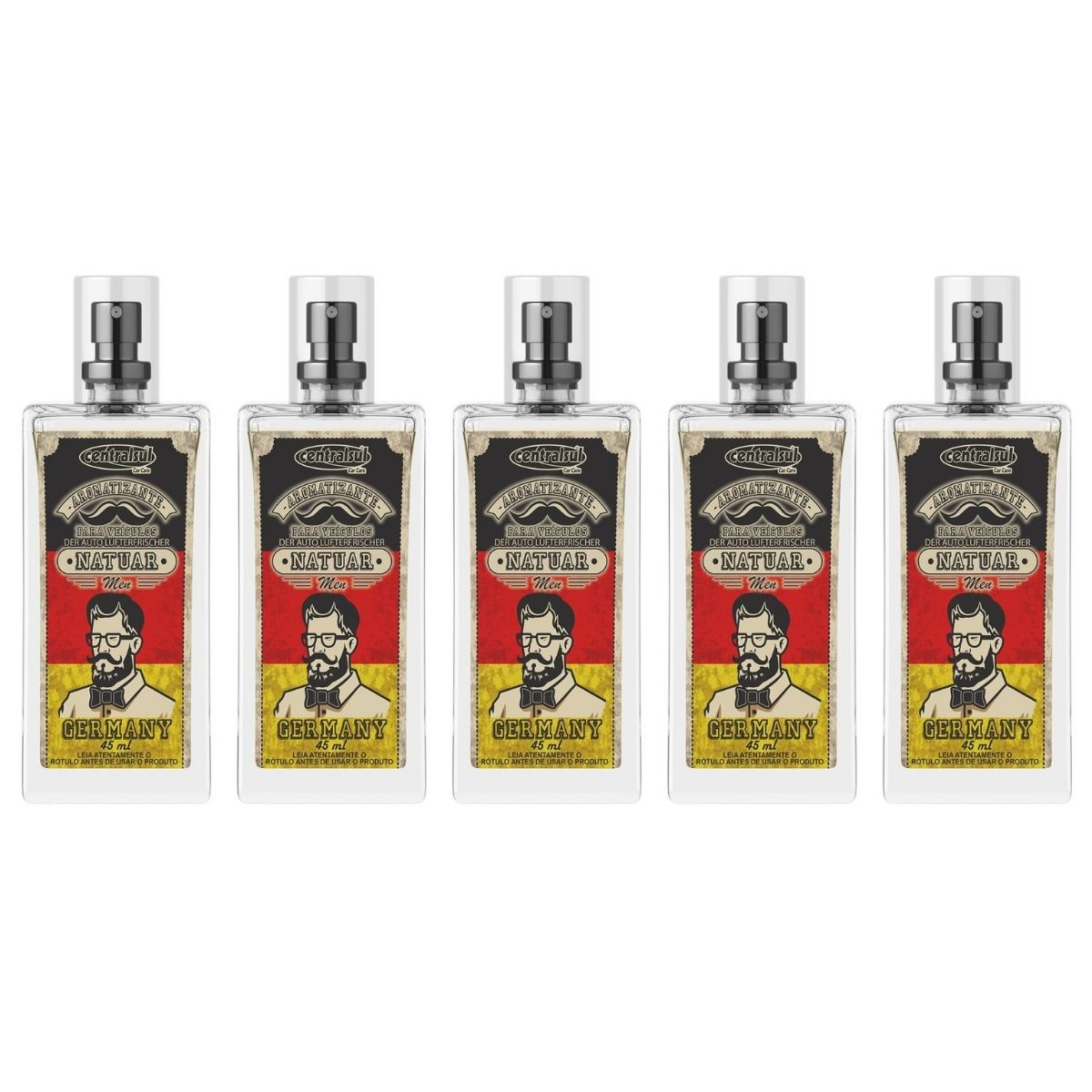 Aromatizante Perfume Natuar Men Germany 45ml 5 Unidades