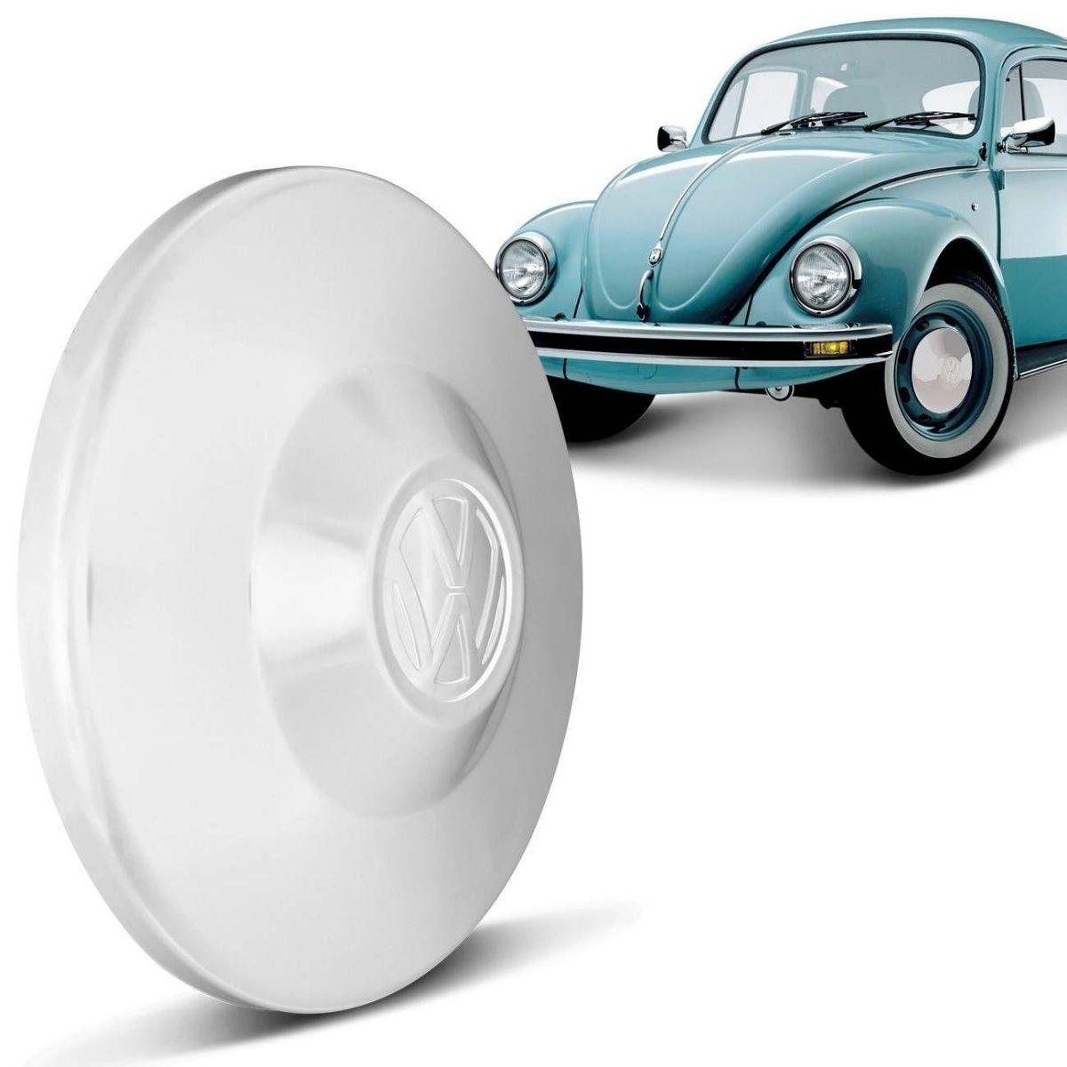 Calota Roda Fusca Kombi Variant Branca Modelo Original