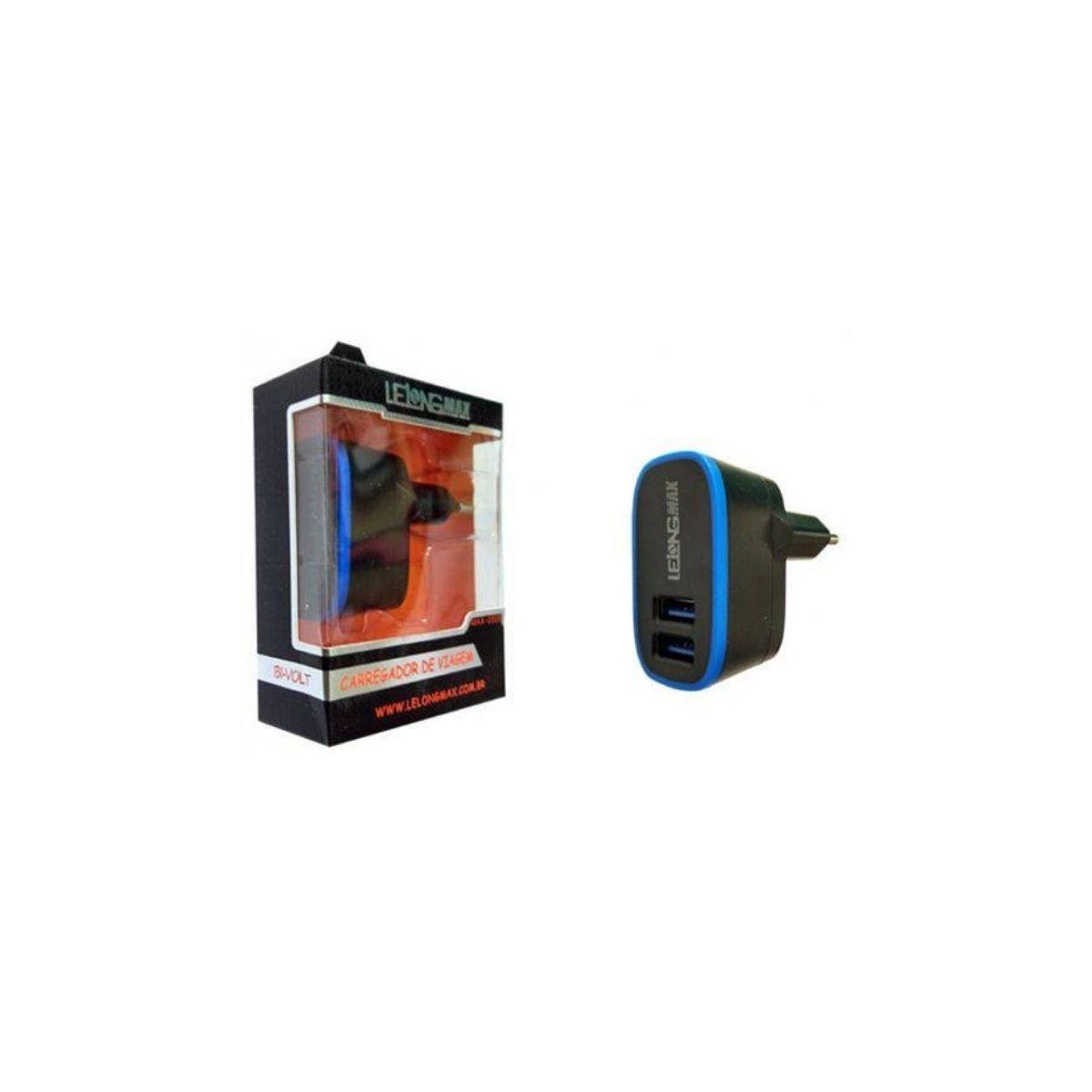 Carregador de Celular Com 2 Portas USB