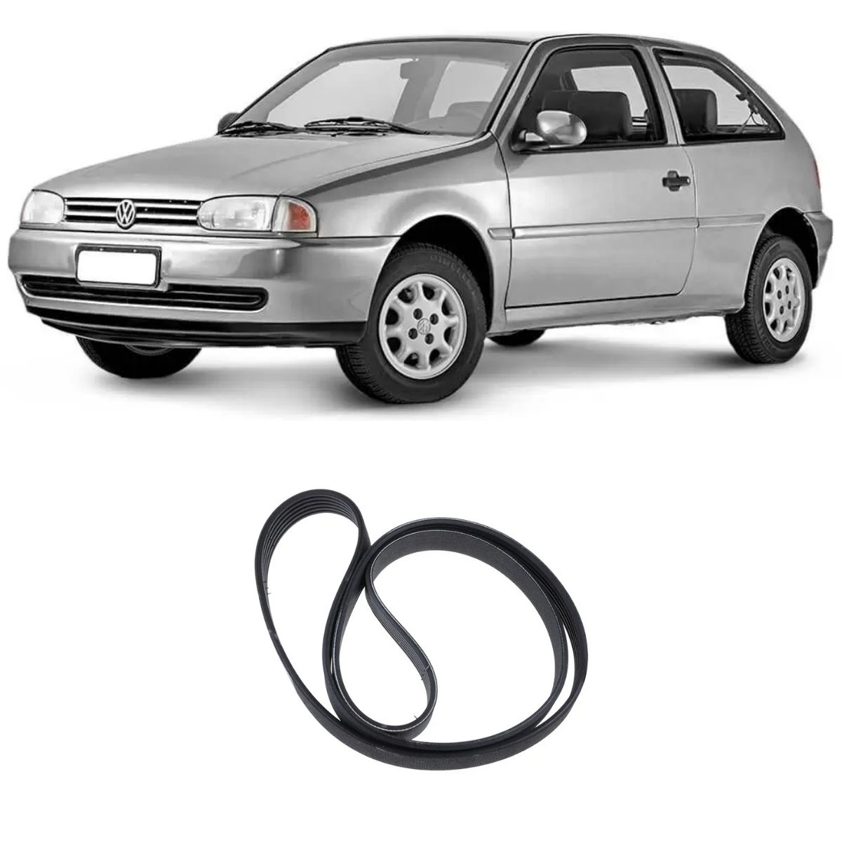 Correia Multi V Gol Parati 1.6 8v 1996/ Fiesta 1.3 1997/