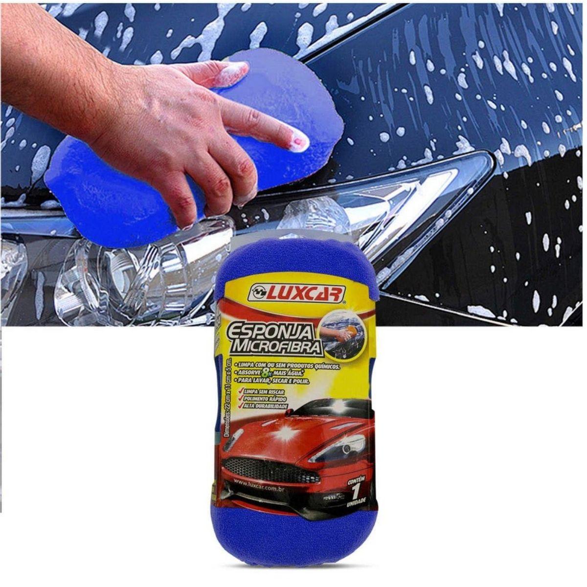 Esponja Microfibra Para Lavar Carros Luxcar