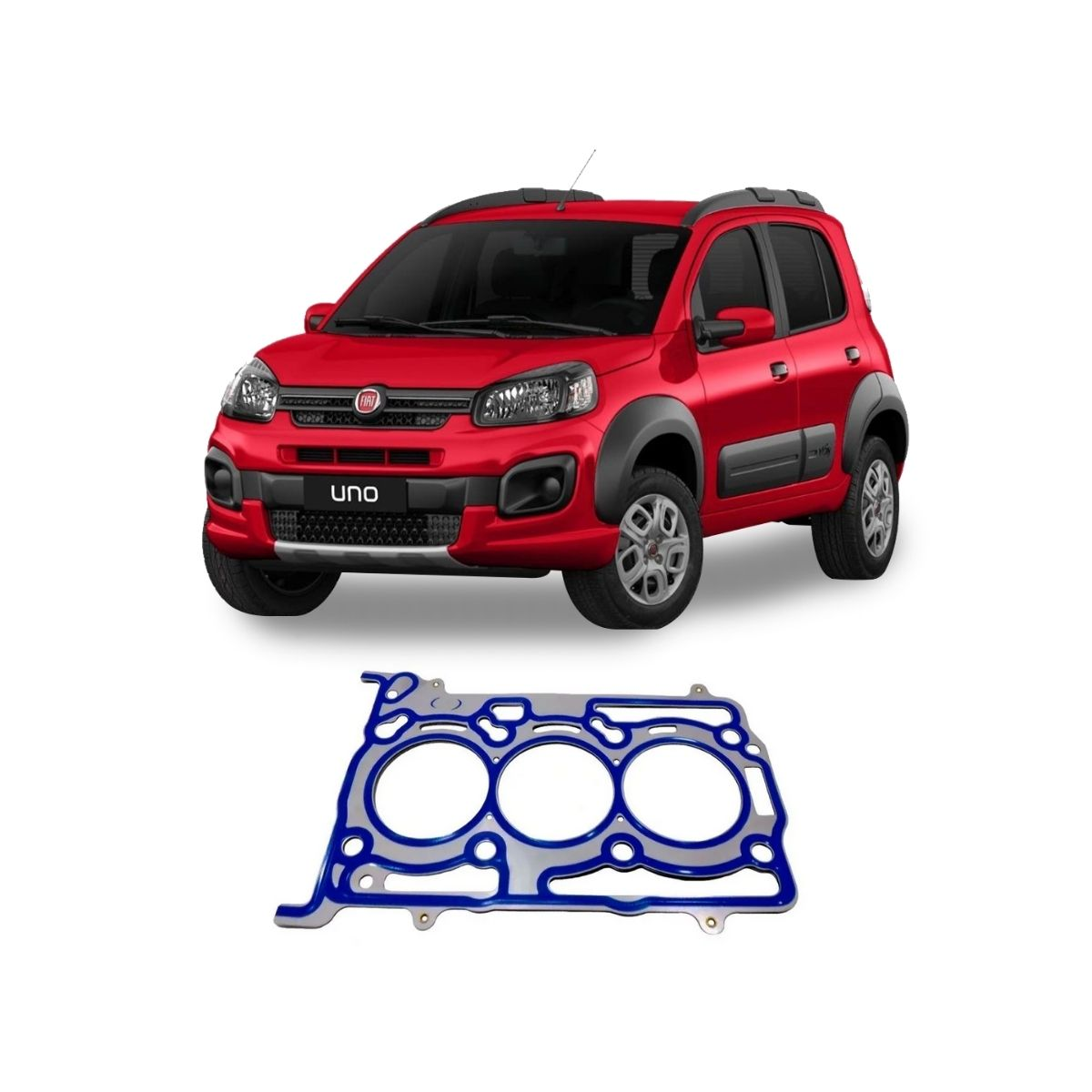 Junta Cabeçote Aço Inox Fiat Uno 1.3 2017 Em Diante