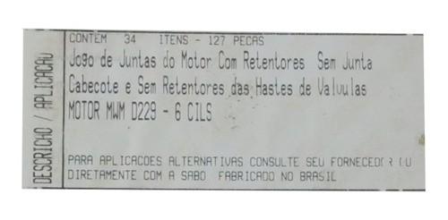 Junta Motor F1000 Mwm 6 Cilindros Marca Sabó