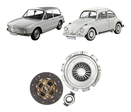 Kit Embreagem Volkswagen Fusca Brasília 1.5 1.6 1973/