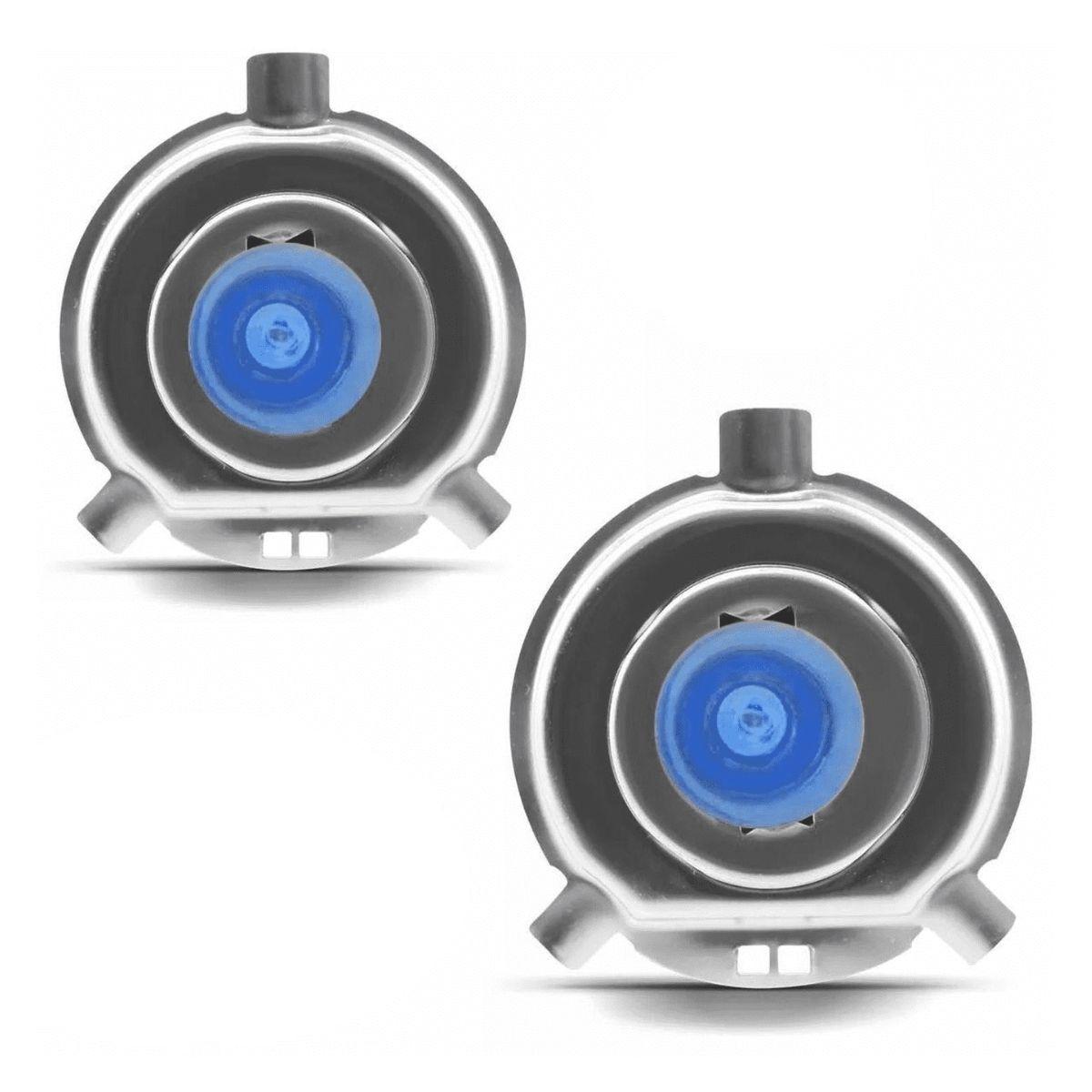 Kit Lampada Super Branca H4 12v 60/55w 8500k Cool Blue
