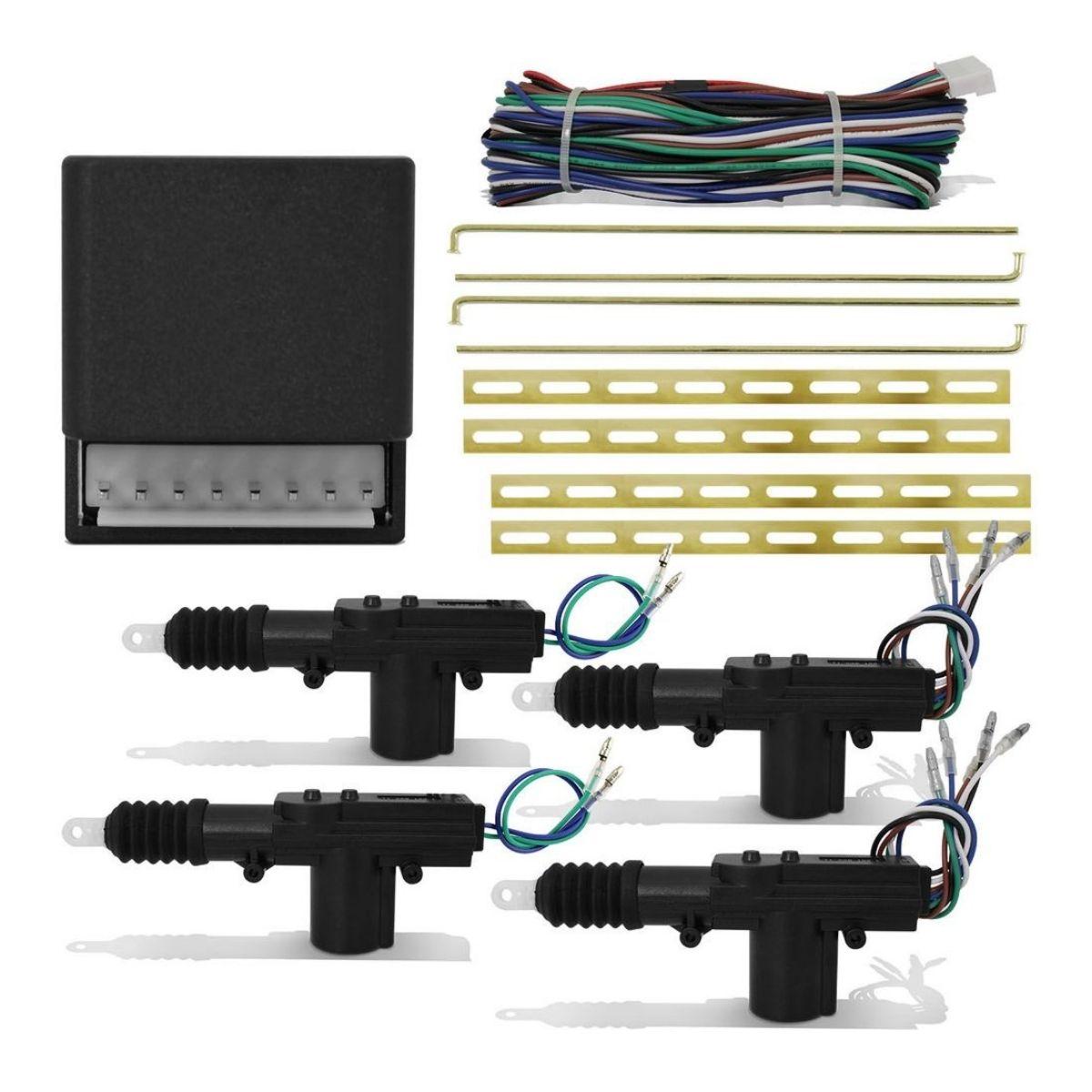 Kit Trava Elétrica Universal 4 Portas Dupla Serventia