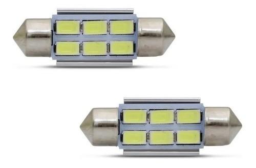 Lâmpadas Led Torpedo Canbus 36mm 6 Leds 12v Luz Branca