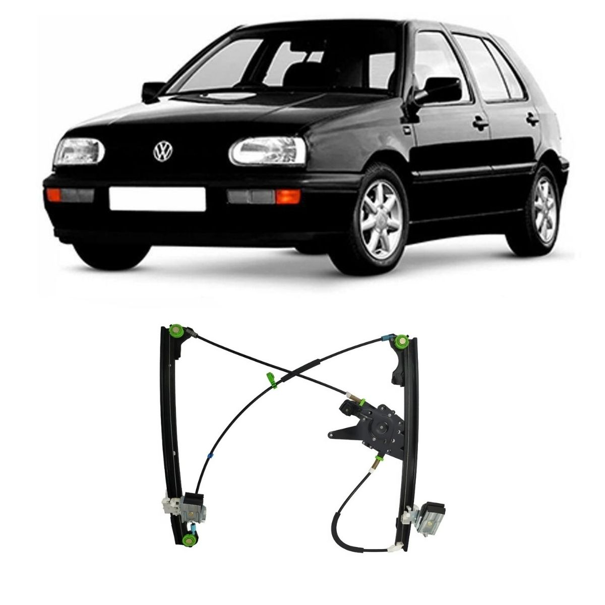 Máquina Vidro Elétrica Dianteira Esquerda Golf 1995/1998