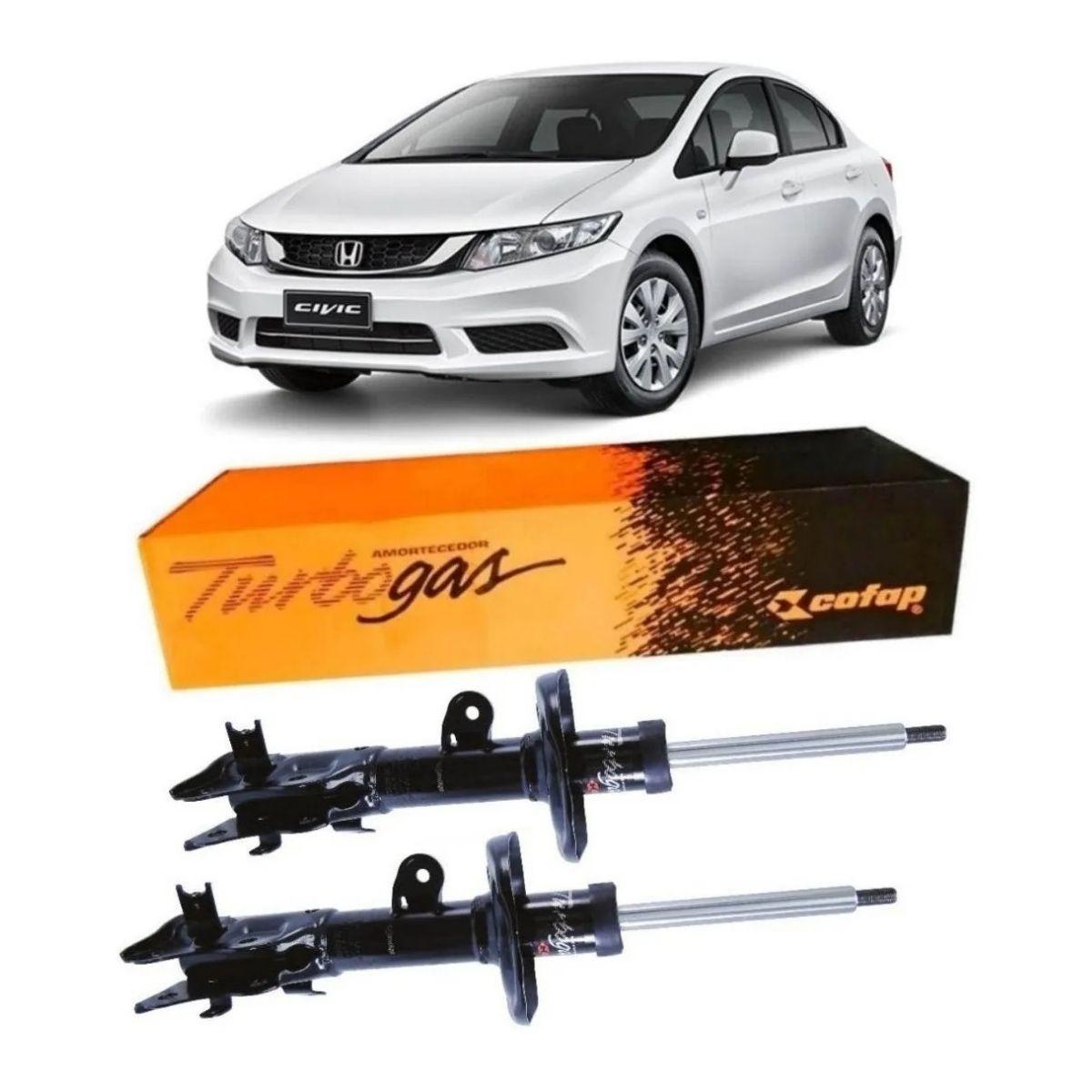 Par Amortecedor Dianteiro Honda Civic 1.8 2012 Em Diante