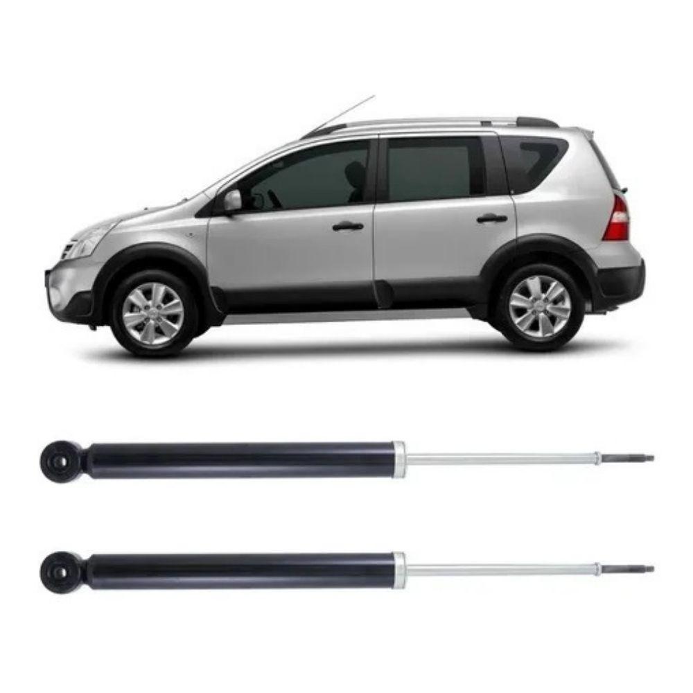 Par Amortecedor Traseiro Nissan Livina 2010 Até 2016