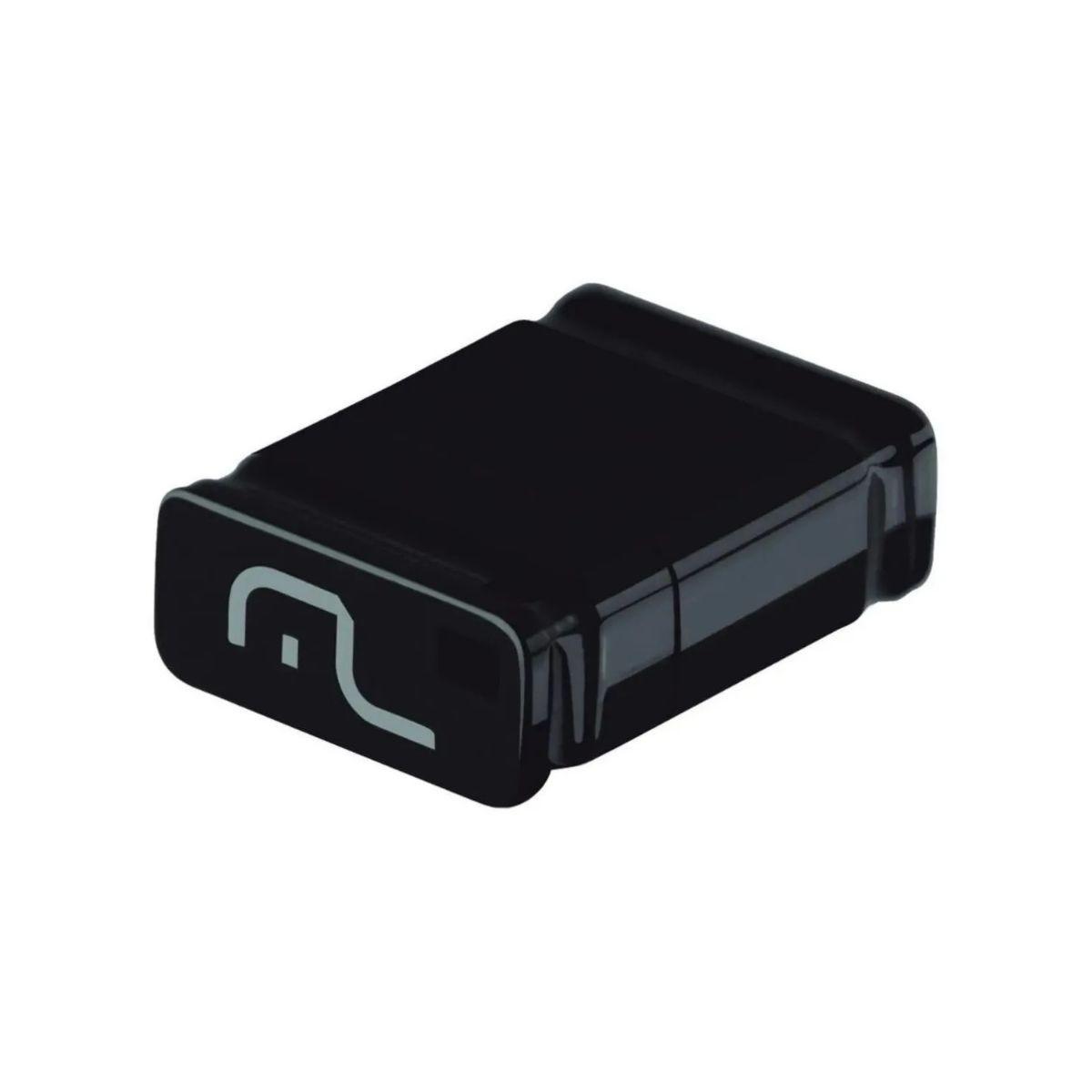 Pendrive Multilaser 16GB 2.0 Nano Preto Leitura 10 MB/s Gravação 3 MB/s