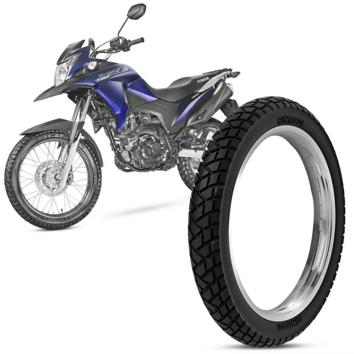 Pneu Dianteiro Michelin Sirac Aro 19 90/90 52P