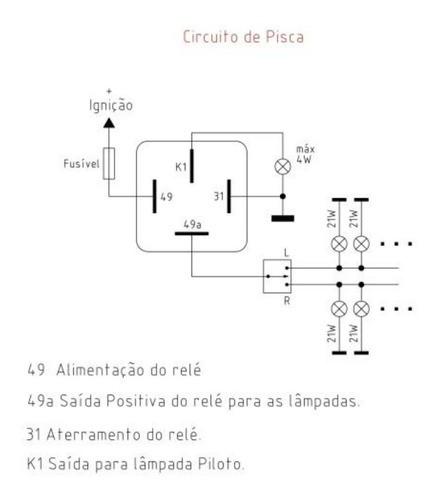 Relé De Pisca Universal Com 4 Terminais