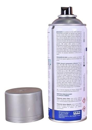 Tinta Spray Alumínio Alta Temperatura Uso Geral 350ml