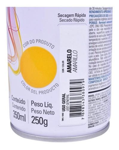 Tinta Spray Amarela Super Color Uso Geral 350ml