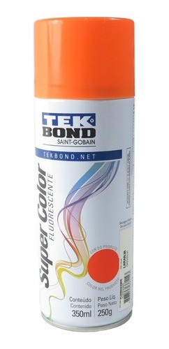 Tinta Spray Laranja Fluorescente Uso Geral 350ml