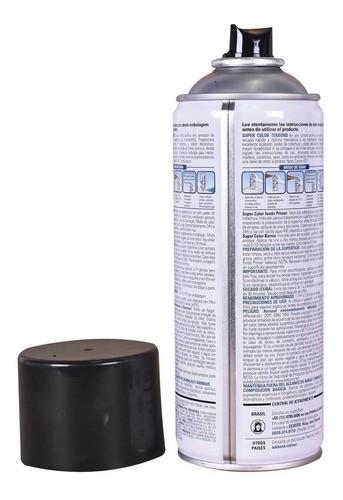 Tinta Spray Preto Brilhante Super Color Uso Geral 350ml