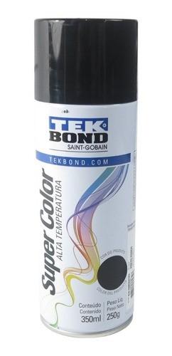 Tinta Spray Preto Fosco Alta Temperatura Uso Geral 350ml