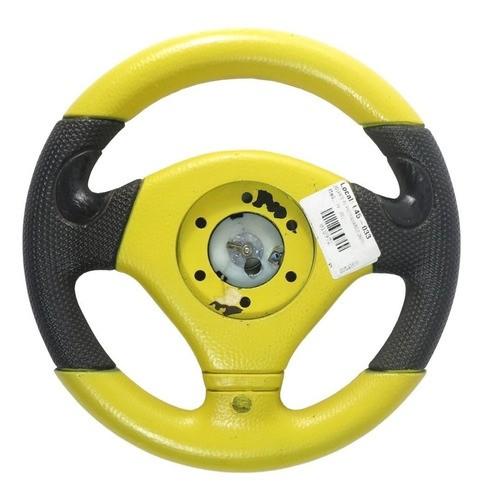 Volante Esportivo Pequeno Preto / Amarelo 260mm