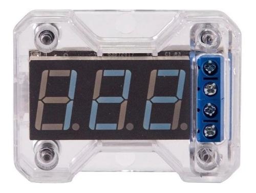 Voltímetro Digital 12v Expert Vex 1.0 Display Azul