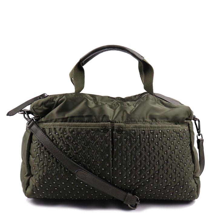 Bolsa com aplicação verde oliva