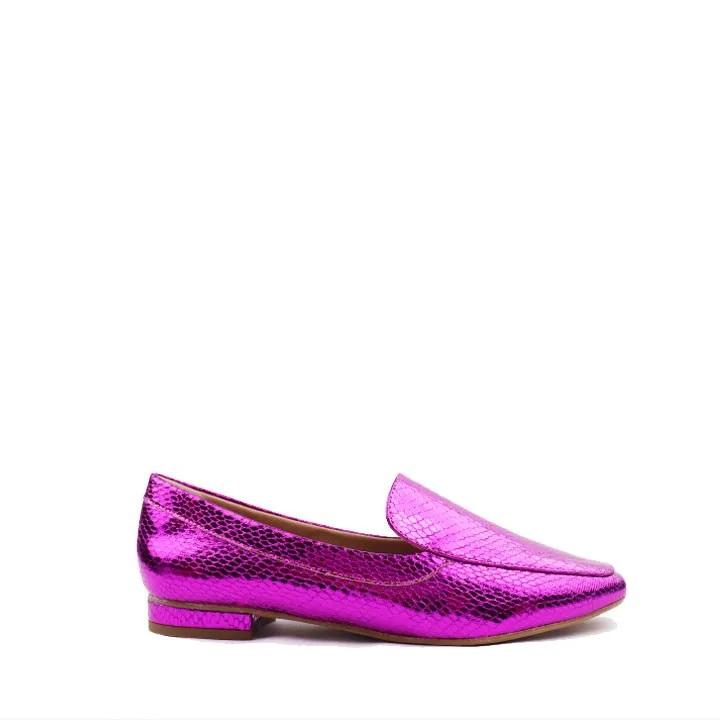 Loafer metalic snake Pink