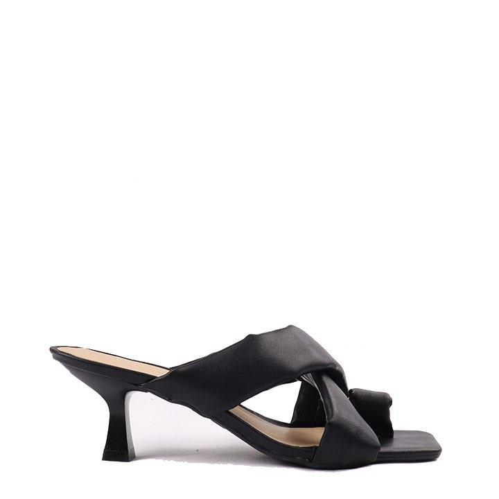 Sandália salto taça preto