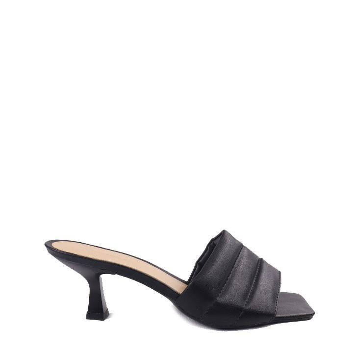 Sandália salto taça médio  Preto