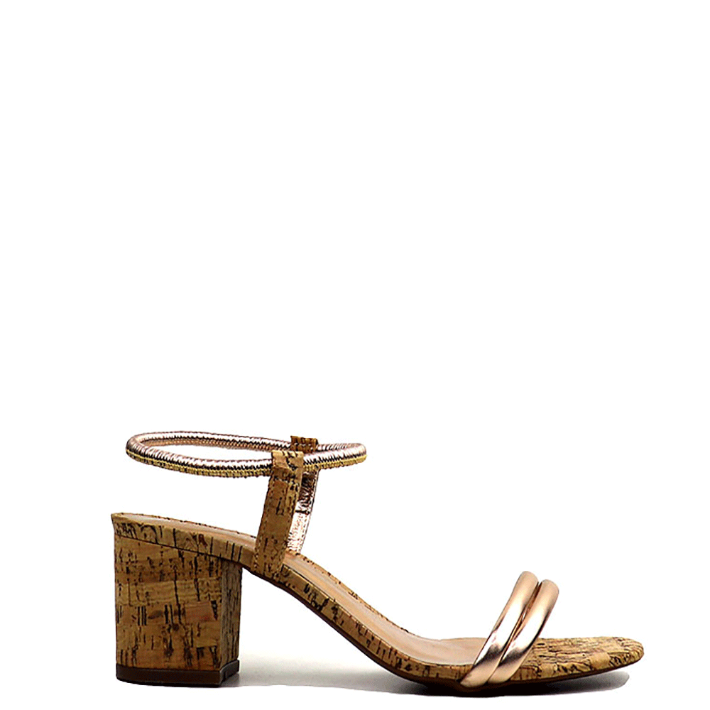 Sandália Hella Metalizado cobre