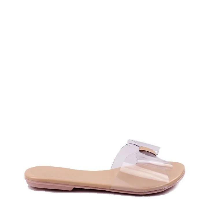 Sandália rasteira verniz vinil Quartzo