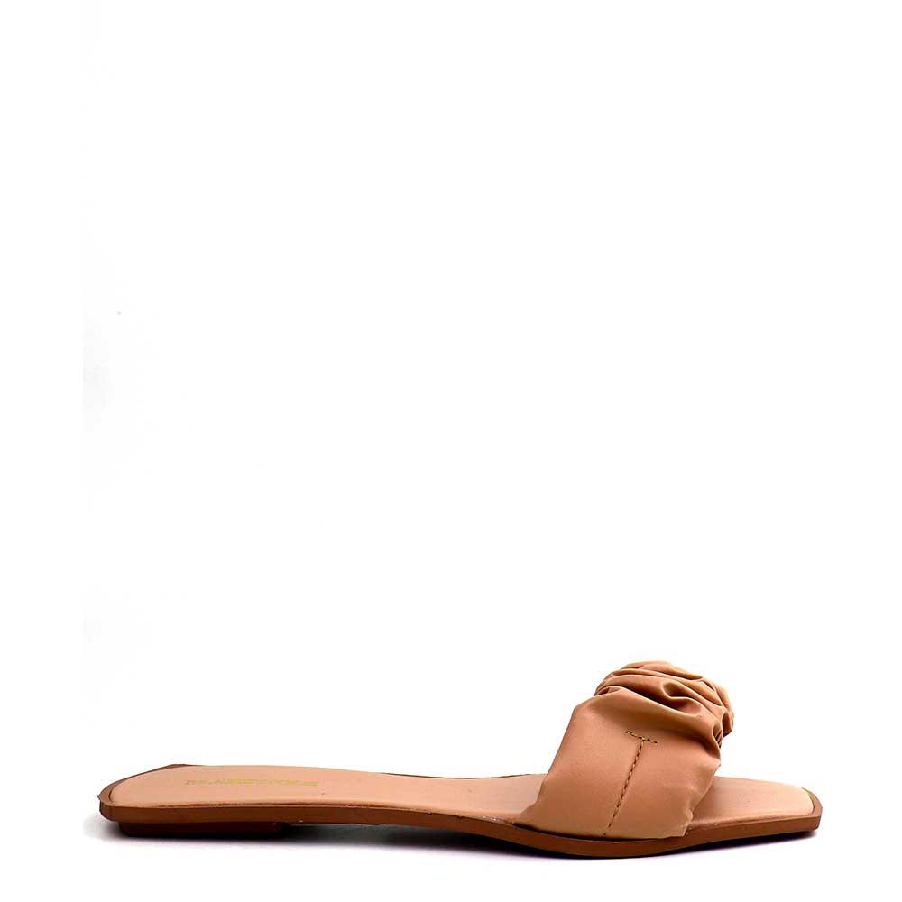 Sandalia Salto Rasteiro Pele