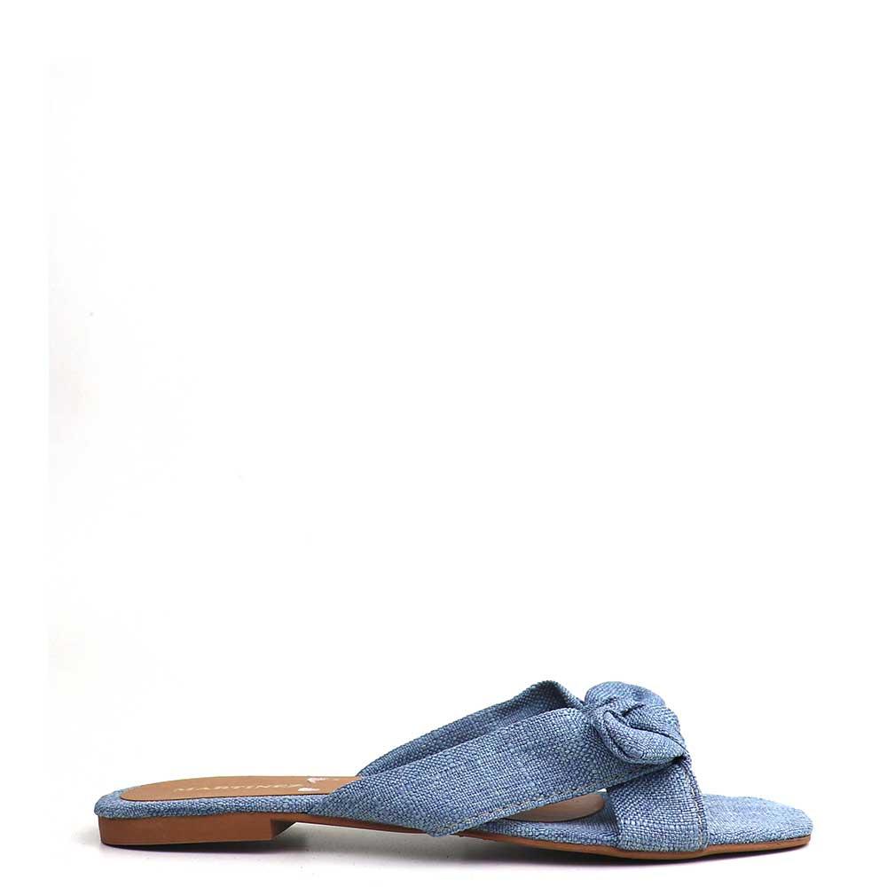 Sandalia Salto Rasteiro Copa Azul