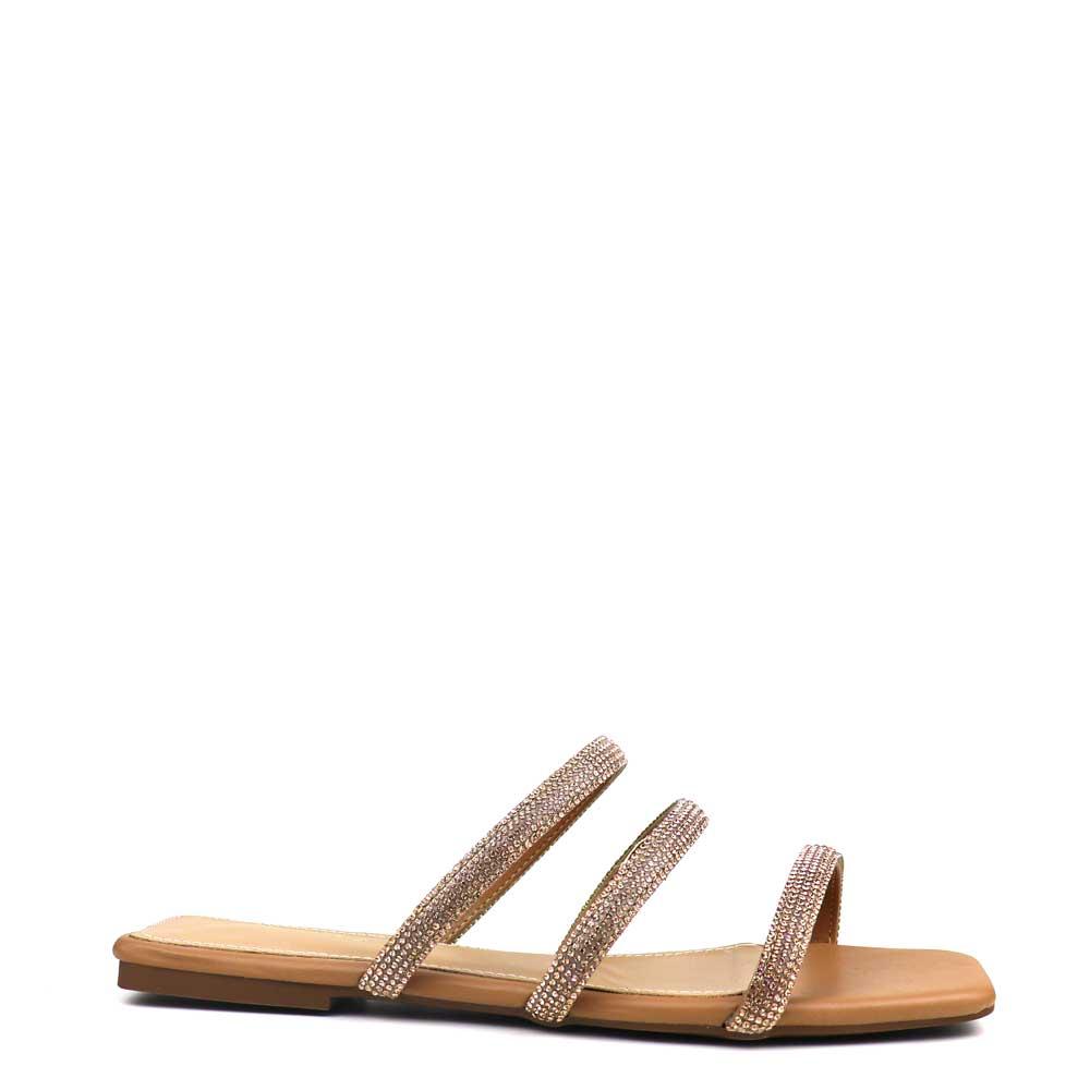 Sandalia Salto rasteiro Nude