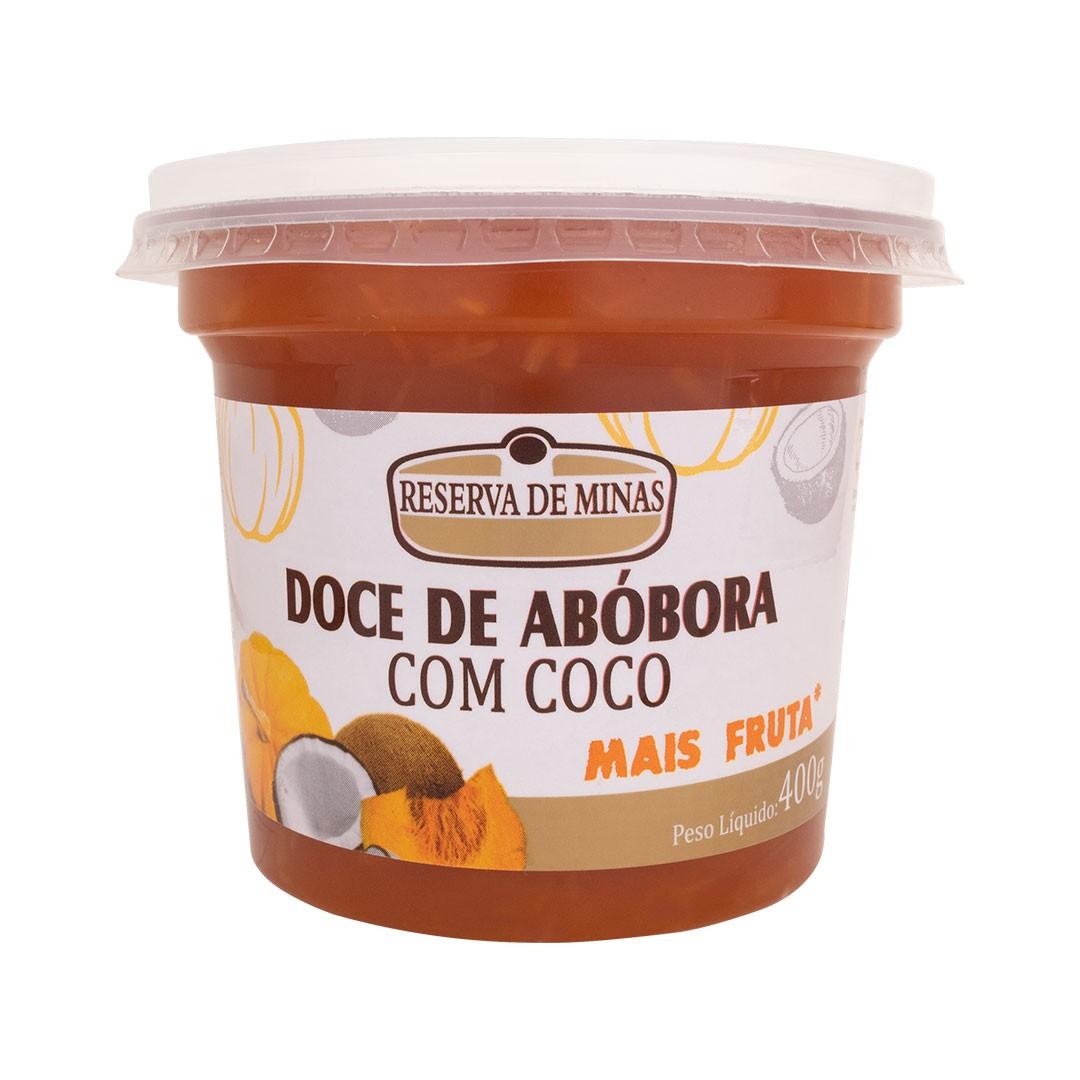 DOCE DE ABOBORA COM COCO RESERVA DE MINAS 400g - Caixa com 12 unidades