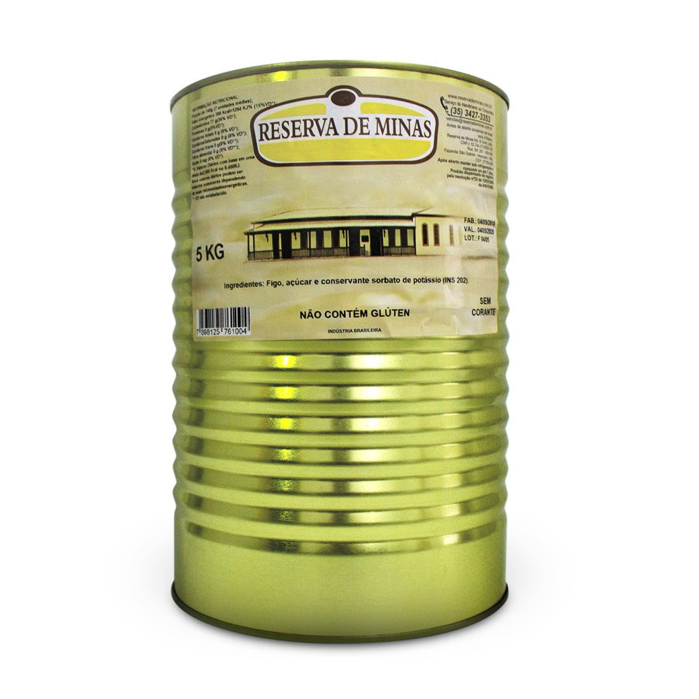 DOCE DE FIGO CALDA RESERVA DE MINAS 5kg - Caixa com 1 unidade.