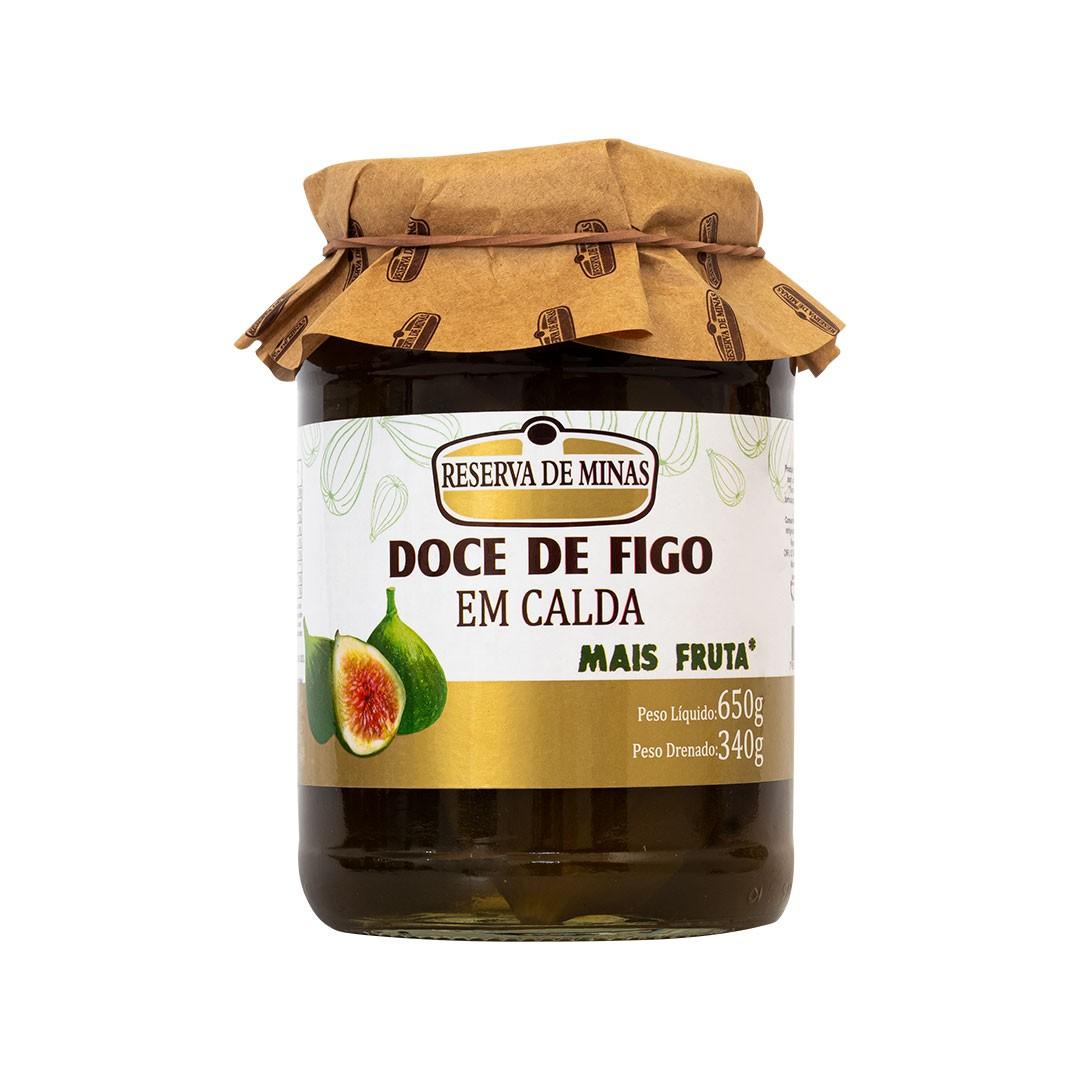 DOCE DE FIGO EM CALDA RESERVA DE MINAS 650g - Caixa com 6 unidades