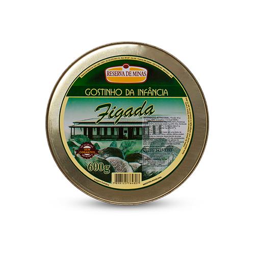 FIGADA GOSTINHO DA INFANCIA RESERVA DE MINAS 600g - Caixa com 06 UNIDADES