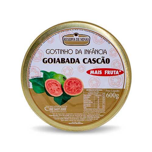 GOIABADA CASCÃO GOSTINHO DA INFANCIA RESERVA DE MINAS 600g - Caixa com 06 unidades