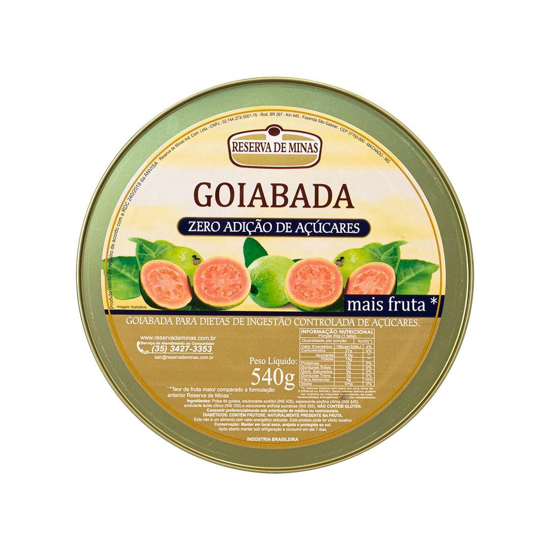 GOIABADA ZERO AÇÚCAR RESERVA DE MINAS 540g - Caixa com 06 unidades