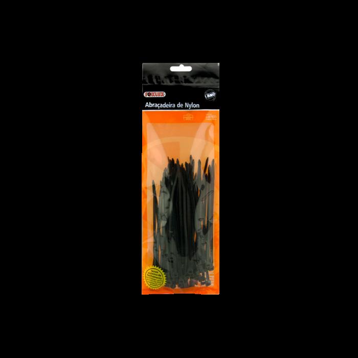 Abraçadeira Nylon 100X2,5 Preta C/100und Foxlux
