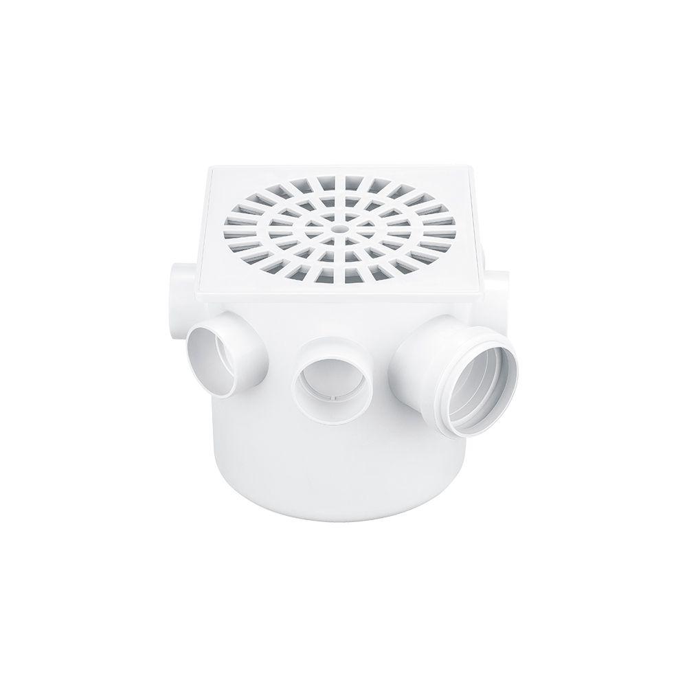 Caixa Sifonada Quadrada Branca 150X150X50MM Herc