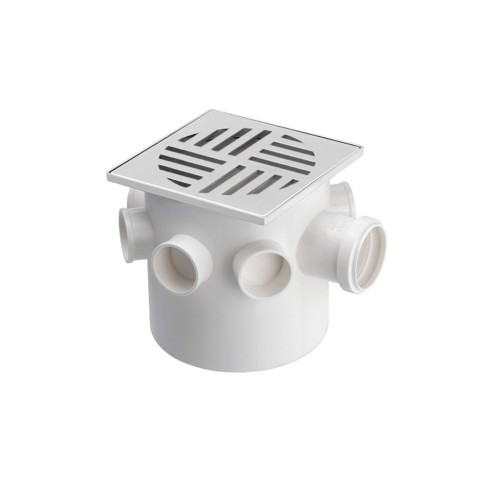 Caixa Sifonada Quadrada Branca 150X150X50MM Krona
