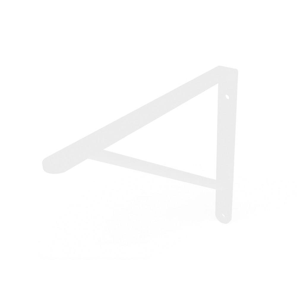 Cantoneira Mão Francesa Reforçada Branco 40cm Dicarlo