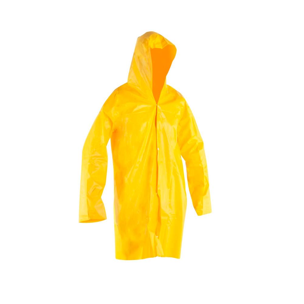 Capa Chuva Pvc com Forro Standard M Amarelo Brascamp