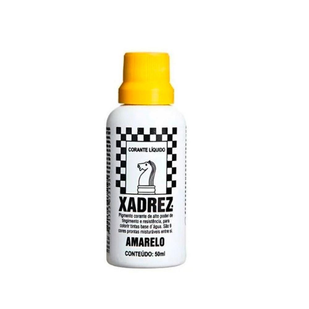 Corante Líquido Amarelo 50ml Xadrez