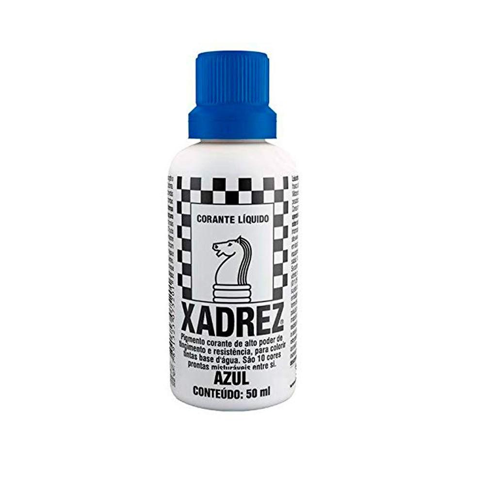 Corante Líquido Azul 50ml Xadrez