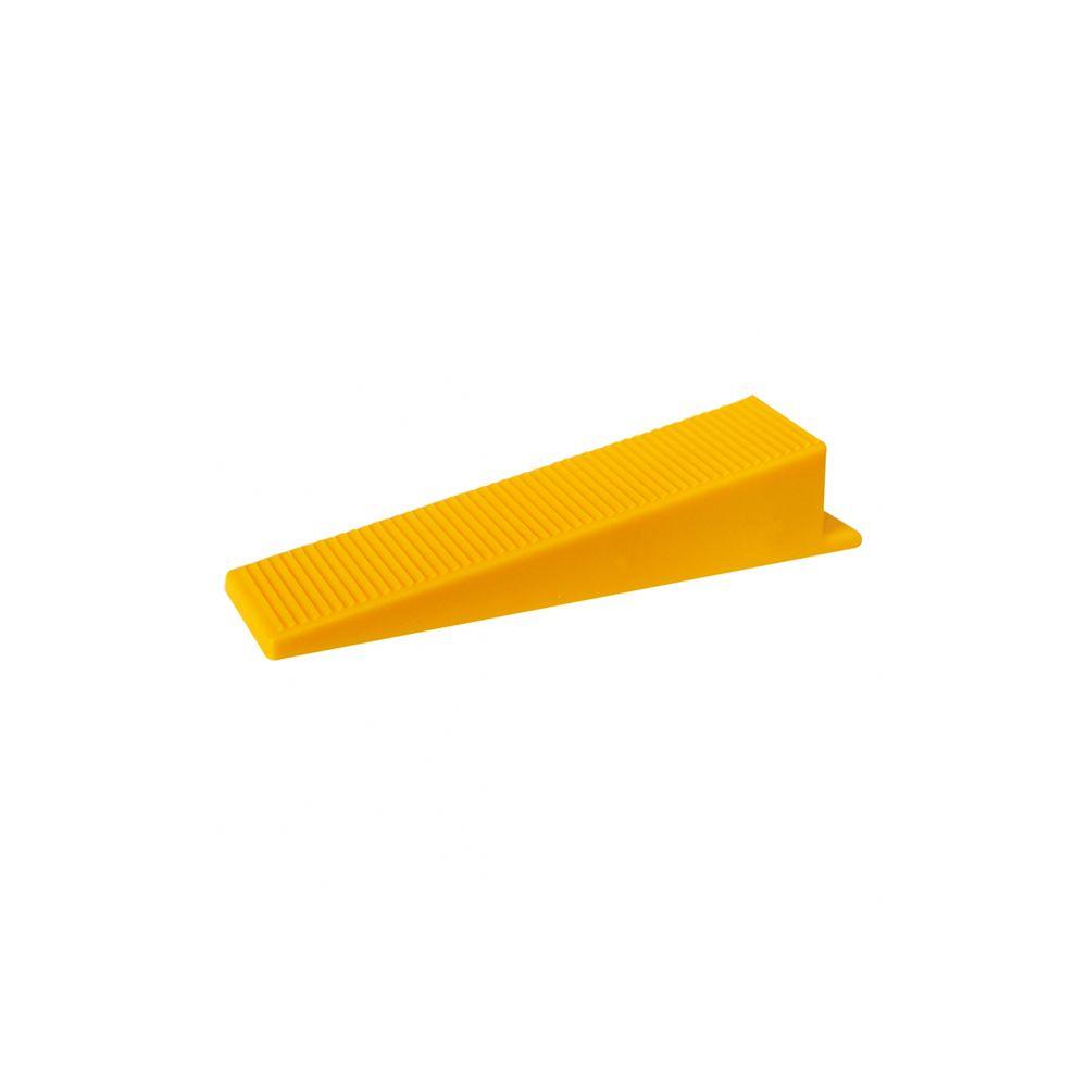 Cunha para Nivelamento de Revestimento Amarelo com 50 peças Cortag