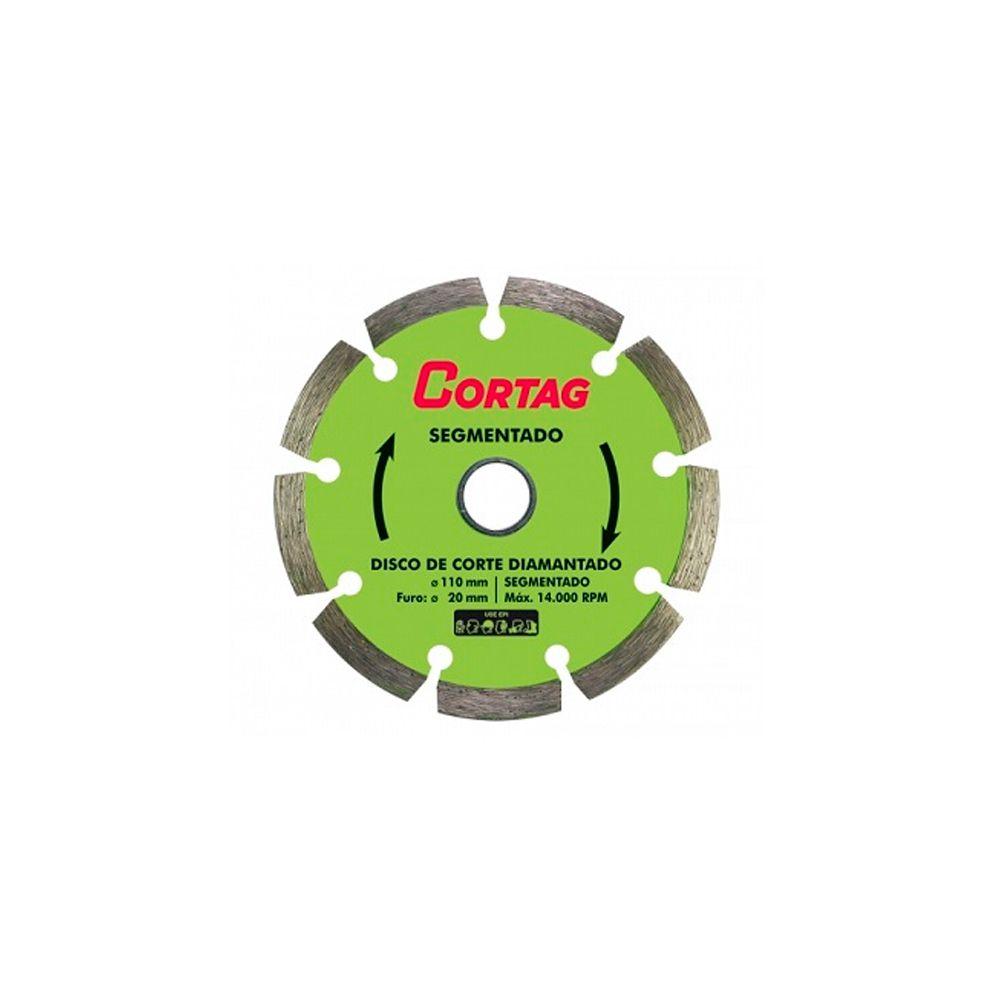 Disco Diamantado Segmentado 110x20mm Cortag